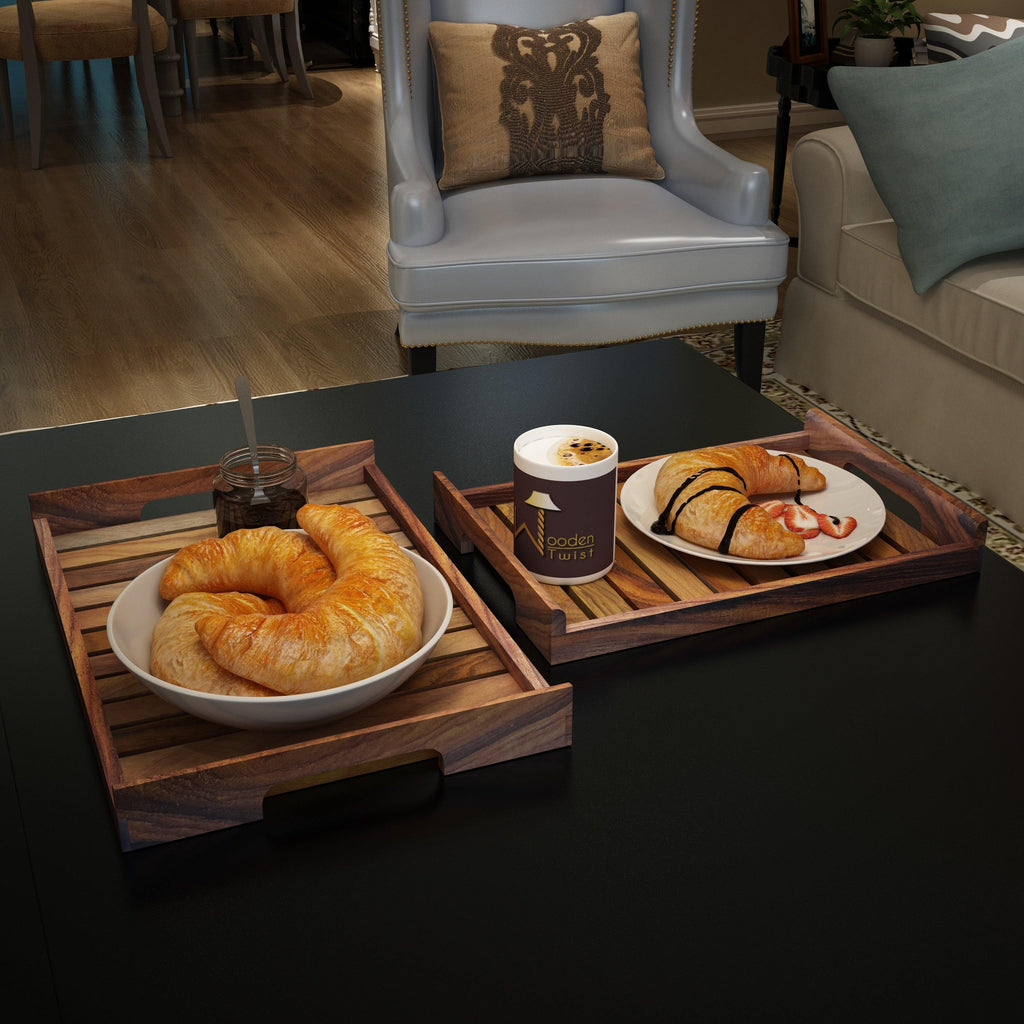 Wooden Serving Tray/Table Décor - WoodenTwist