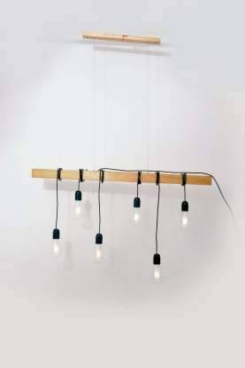 Natural Brown Ceiling LAMP with Big Bulbs