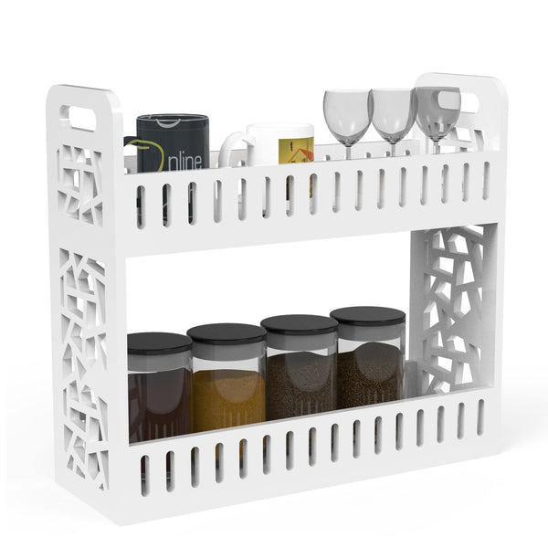 wooden kitchen storage rack