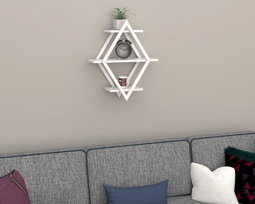 rhombus wall shelf