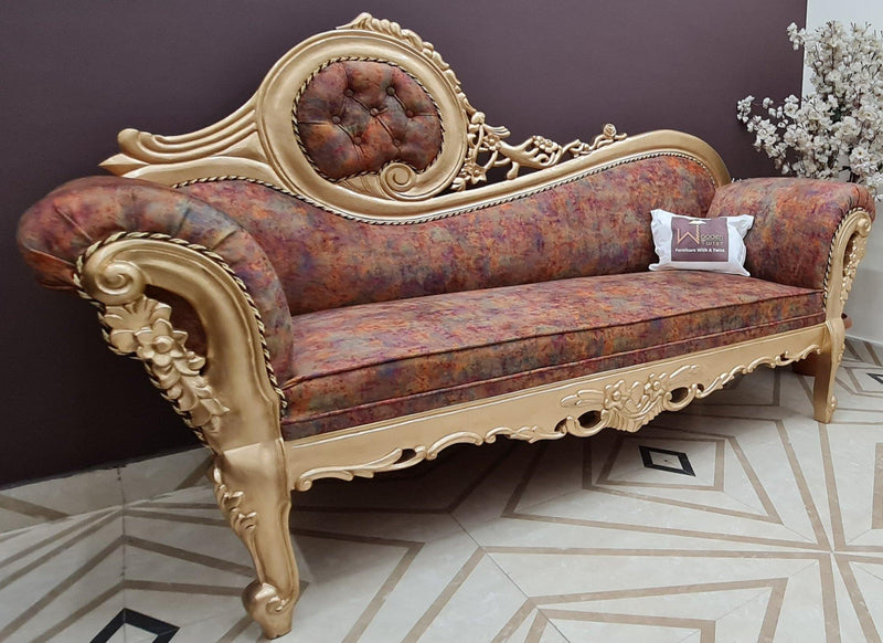 sheesham wood victorian sofa