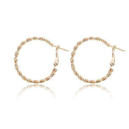 hollow circle earrings