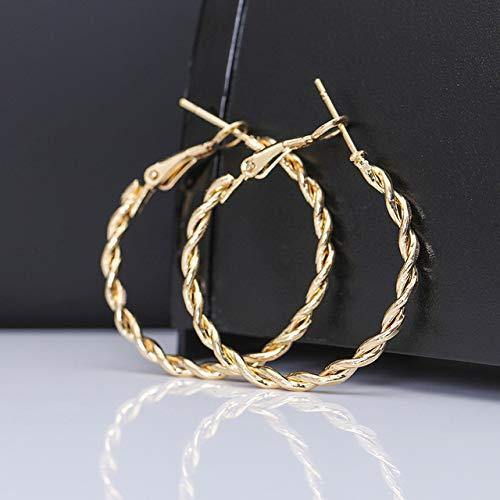 golden hollow circle earrings