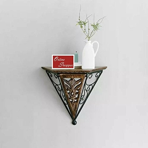 Beautiful wood & wrought iron Large Fancy wall bracket