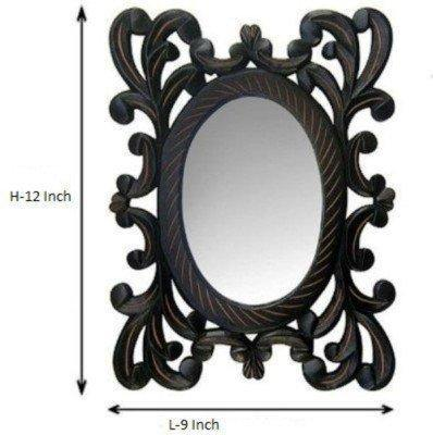 Decorative Hand Carved Wooden Wall Mirror