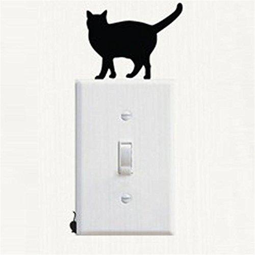 Cat Kitten Light Switch Decal Vinyl Wall Decal Sticker (Set of 8)