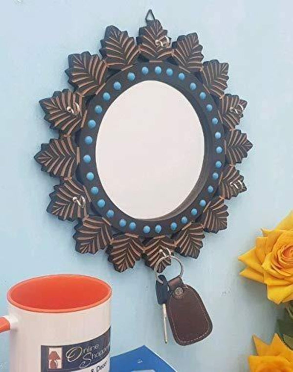 wooden decorative mirror
