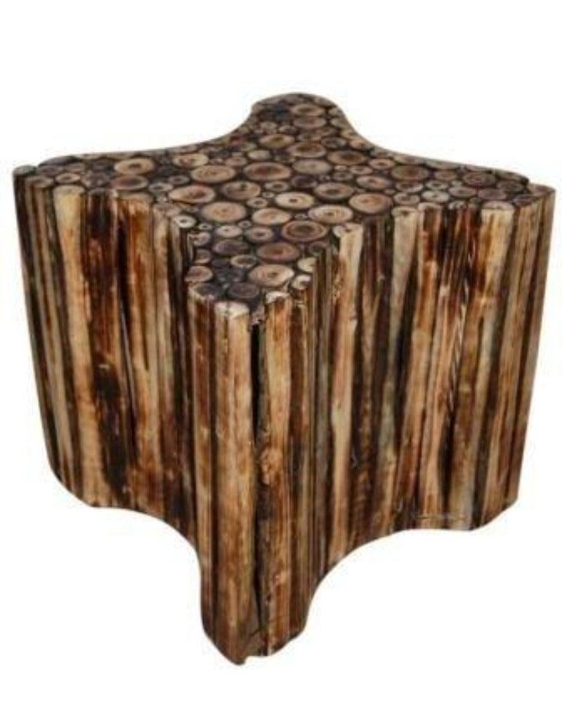 star shaped wooden stool