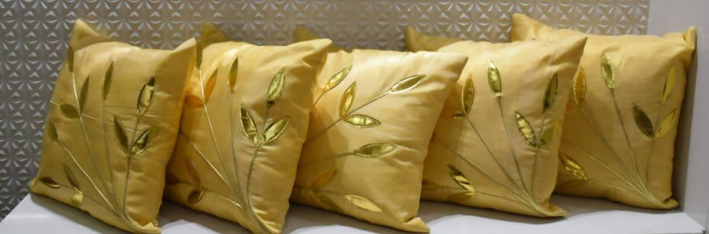 Elegant Cotton Cushion Cover Zip Close (Set of 5) - WoodenTwist