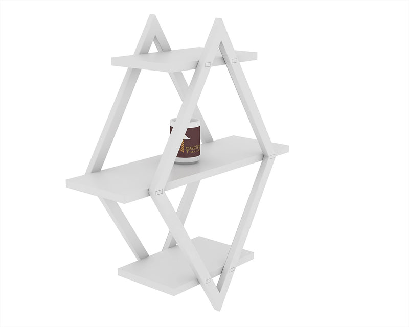 rhombus floating wall shelf