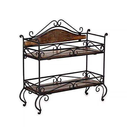 brown shelf rack