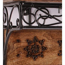 Wood & Wrought Iron Fancy Wall Bracket/Book Rack Wall Shelf With Coat Hanger