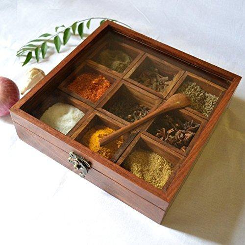 sheesham spice box container