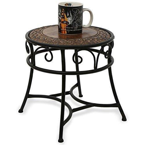 wooden and iron table/stool
