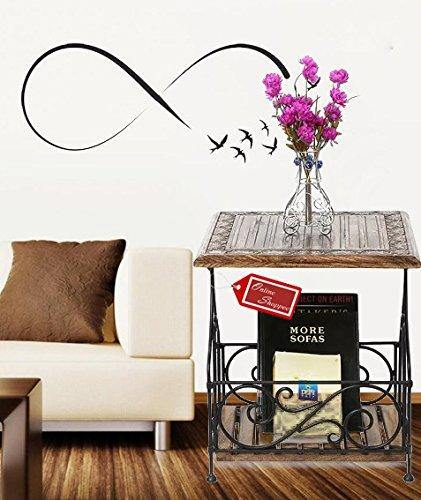 Wood & Iron Handmade Design End Table With Books & Magazine Holder