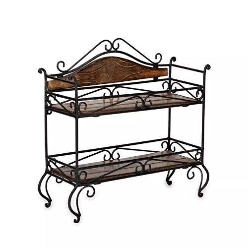 wrought iron rack shelf