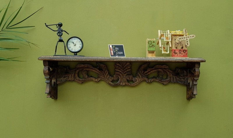 Wooden Fancy Floating Wall Bracket/Book Rack