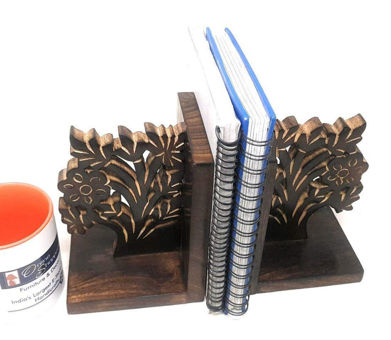 engraved tree of life bookend
