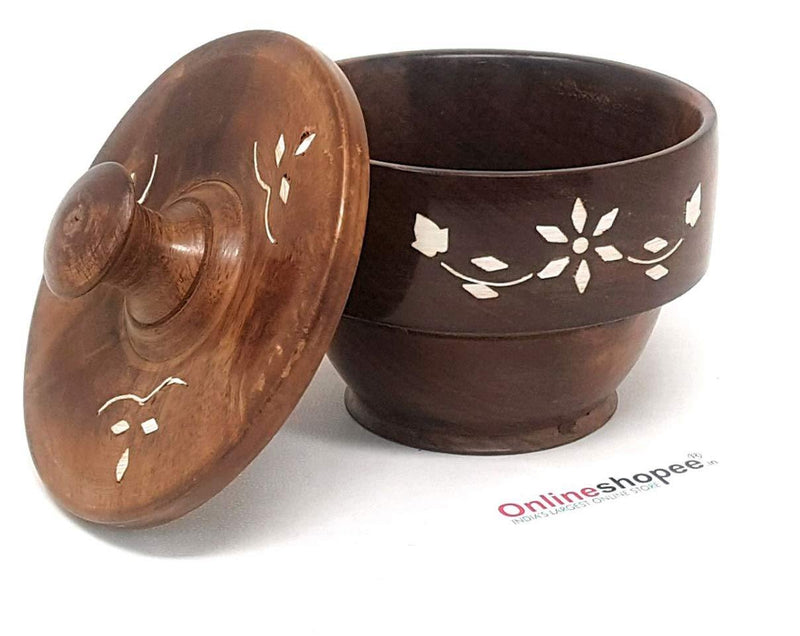 wooden bowl with plate