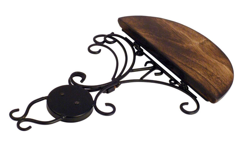Hand Carved Wooden & Wrought Iron Wall Shelf ( Buy 1 Get 1 Free )