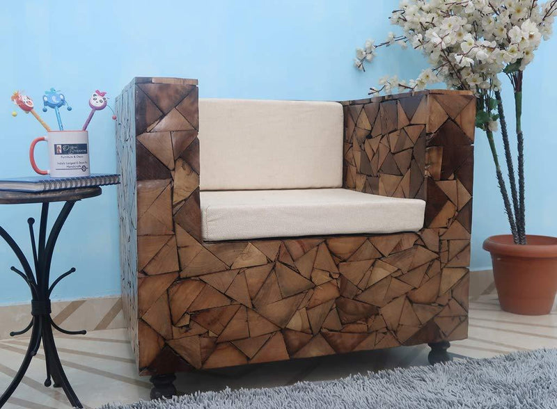 Saal wood one seater sofa