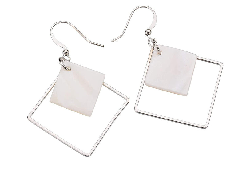 White Shellfish Earrings