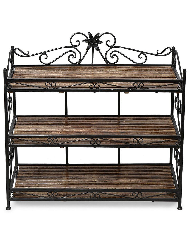 shoe rack with 3 shelves
