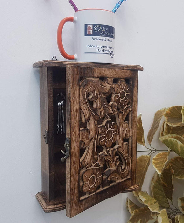 wooden key box
