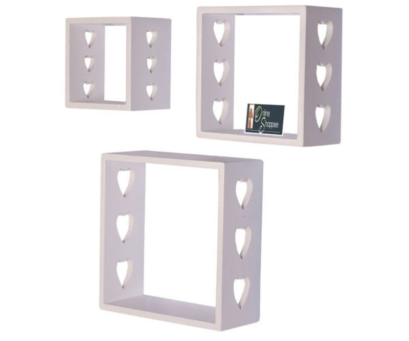 Wooden Floating Wall Shelves Set of 3