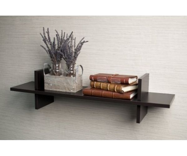 wooden floating wall shelf