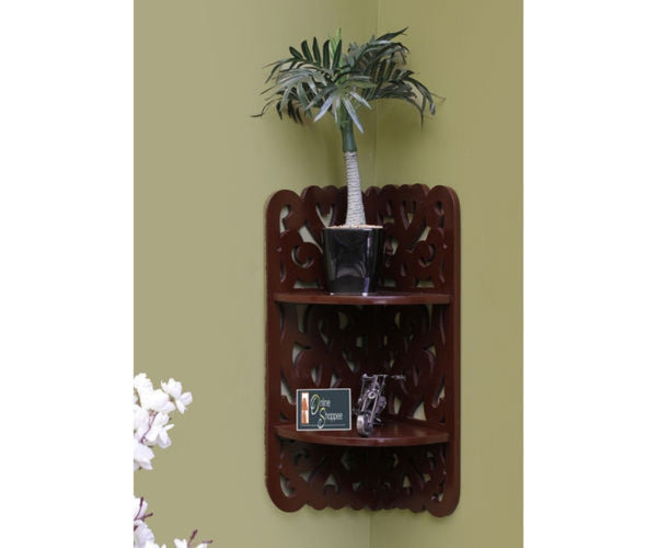 Wooden Dos Niveles Wall Decor Rack Shelf