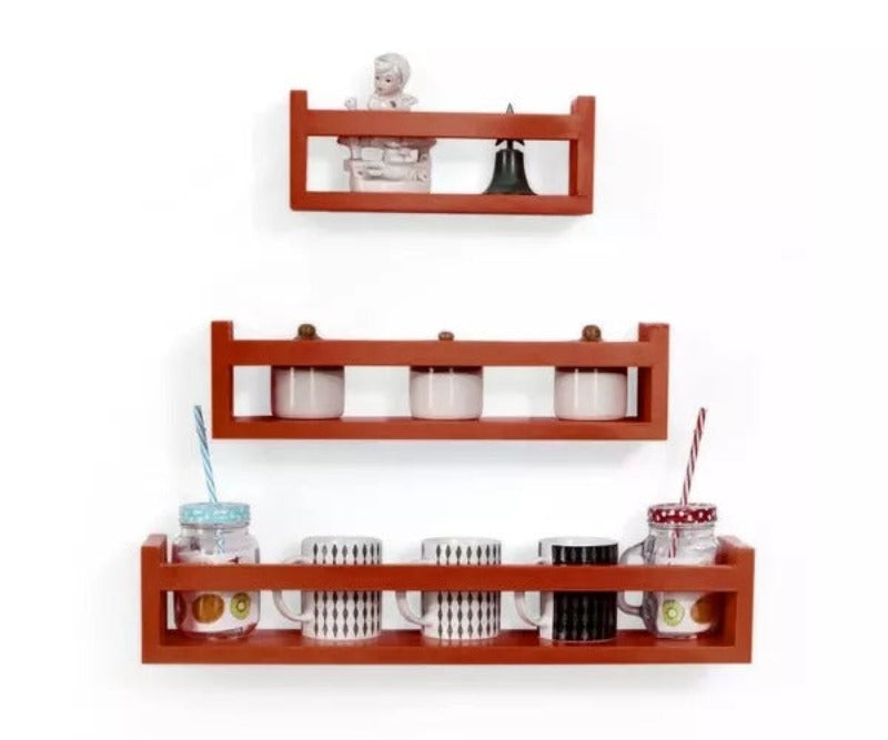 Wooden Wall Decor Multipurpose Kitchen Wall Rack