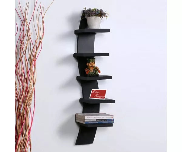 Wooden Floating MDF 5 Nivel Wall Shelves