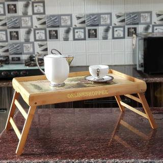 Bamboo Wood Elegant Laptop Table | Breakfast Table