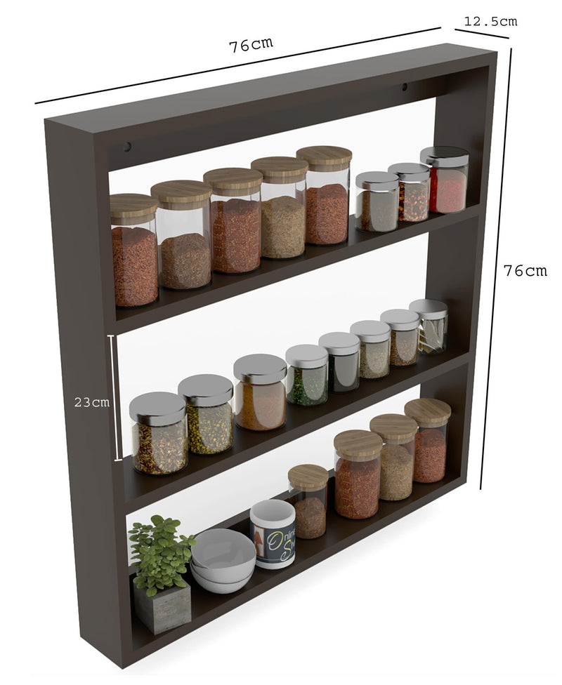 Big Wooden Kitchen Wall Shelf Rack Multi-Function Shelf