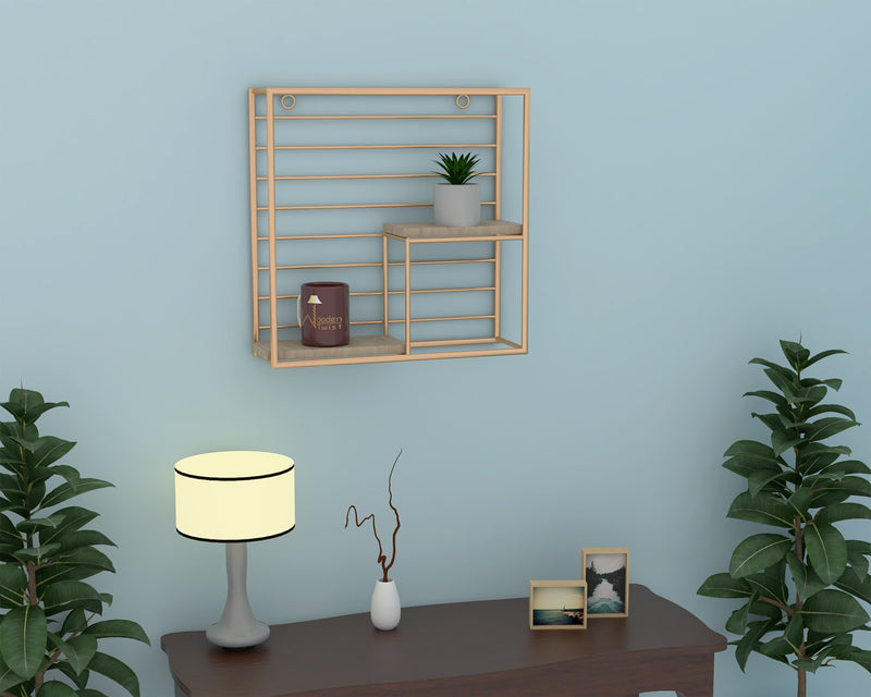 golden wall shelf