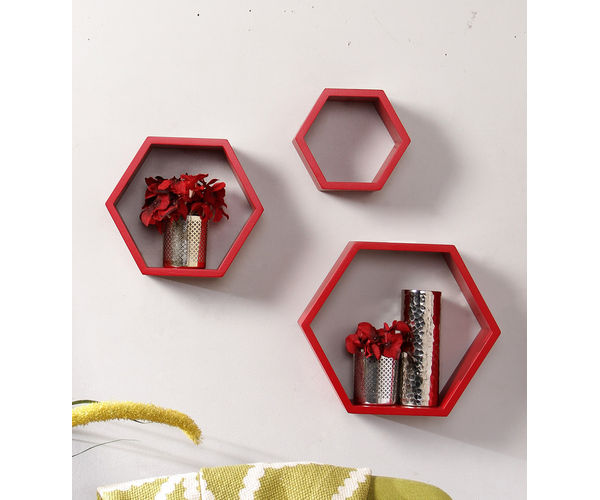 Red Floating Wall shelf