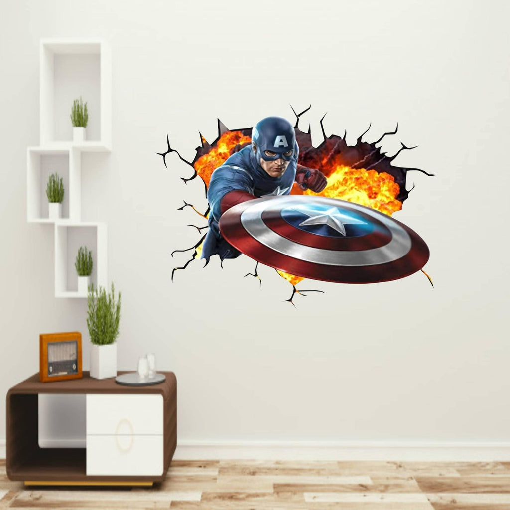 Captain America Wall Sticker