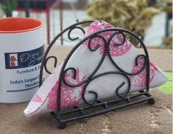 wrought iron tissue holder