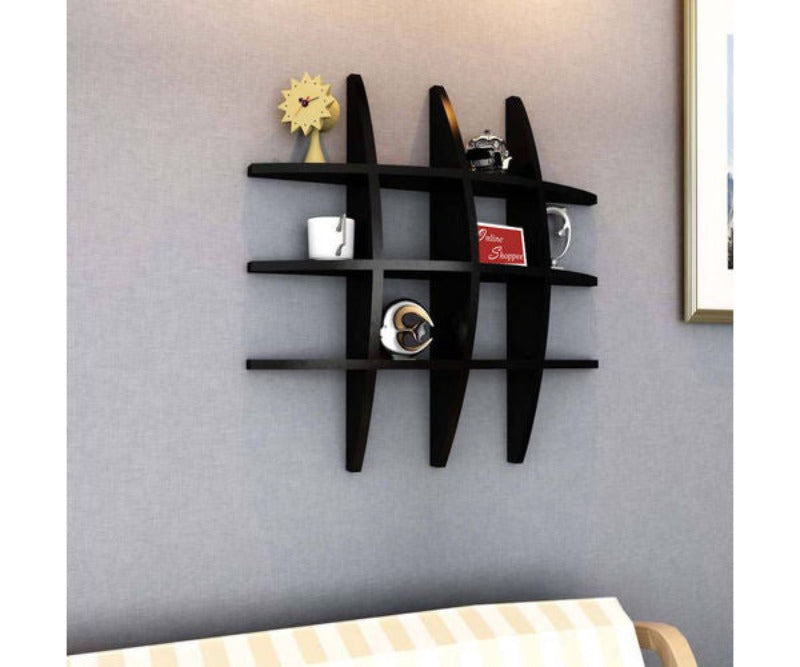 Wooden Big Tier Floating Wall Shelves