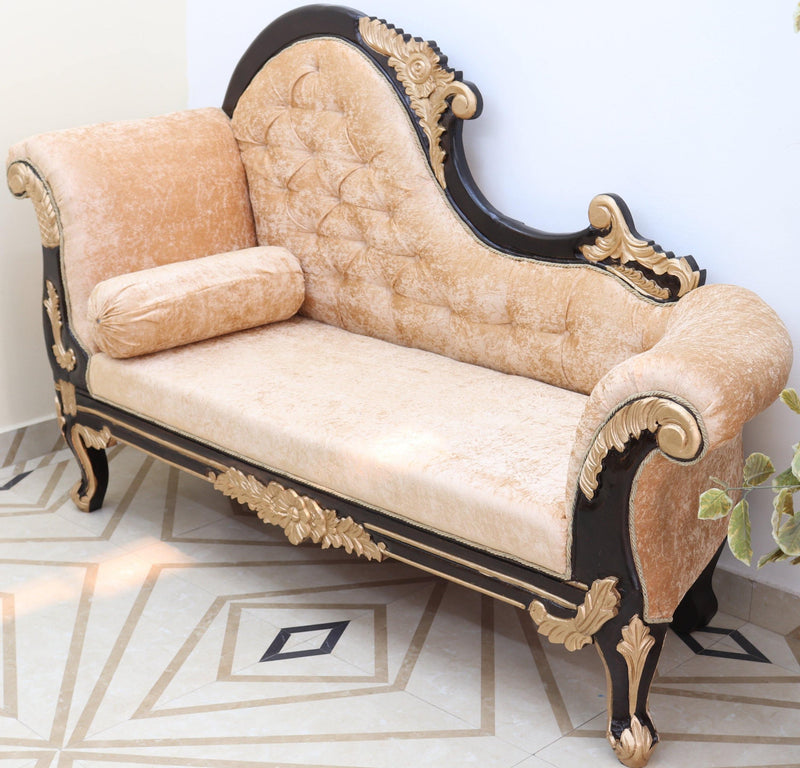hand carved wooden sofa