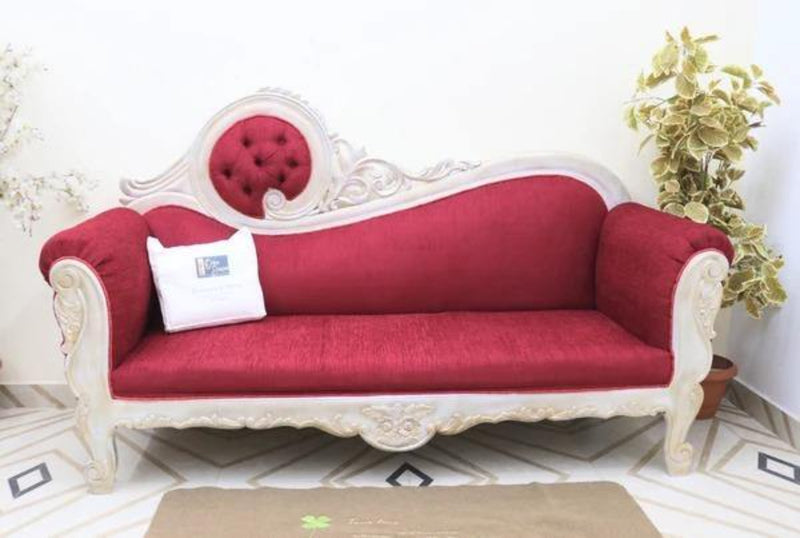 Canapé Sheesham Wood Victorian Style Sofa Couch