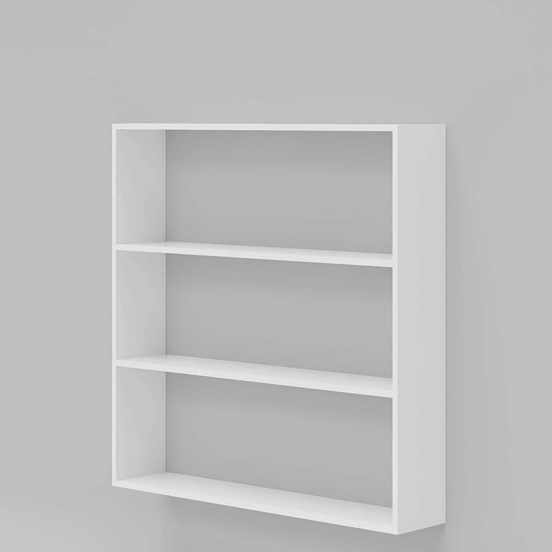 Wooden Kitchen Wall Shelf for Storage Boxes, Kitchen Shelf Racks (White)