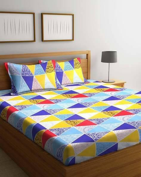 Prime Microfiber Double Bedsheet with 2 Pillow Covers - WoodenTwist