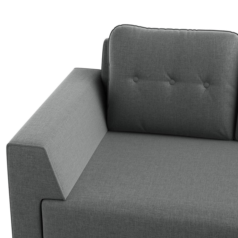 Azul 5 seater Left-Side L Shape Fabric Sofa Set
