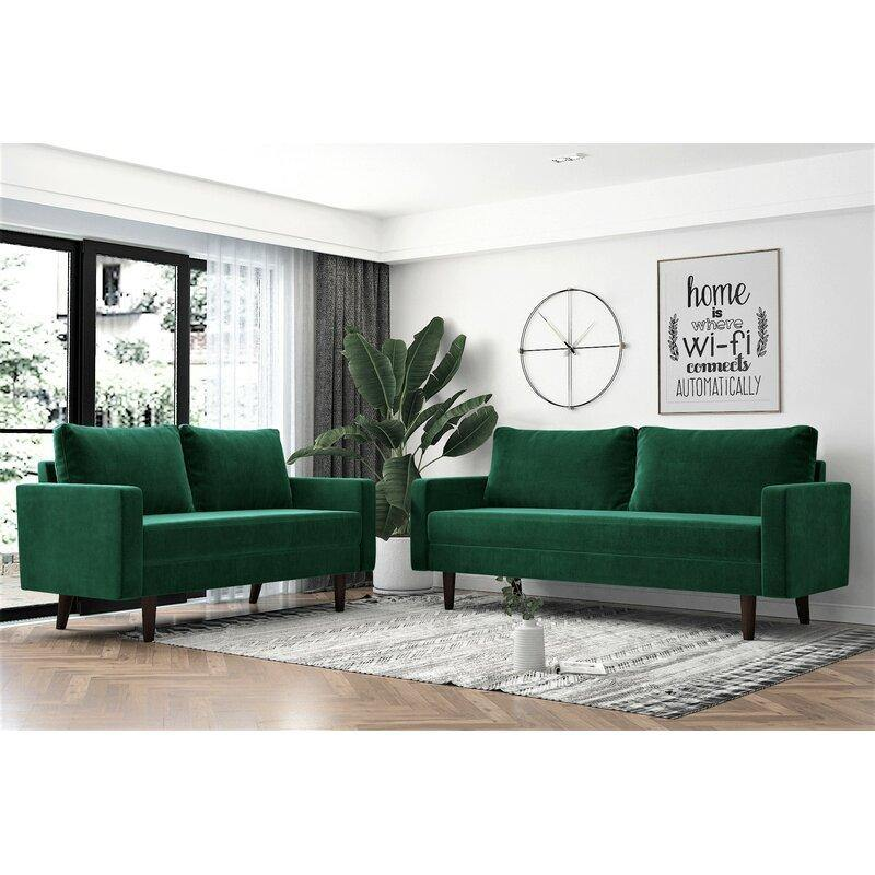 Premium 2 Piece Living Room Sofa Set