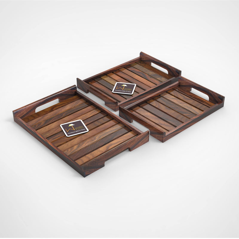 Wooden Serving Tray/Table Décor (Set of 3)