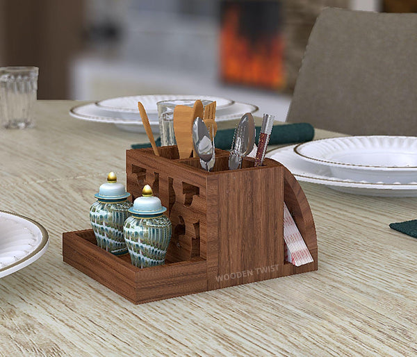Néos Premium Cutlery and Tissue Holder