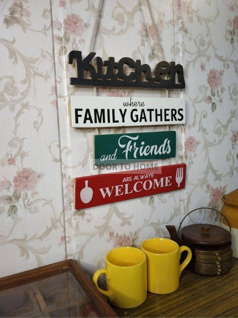 Chic Wooden Kitchen Sign Board