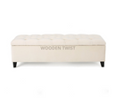 Zelja Premium Wood Flip Top Storage Bench Couch